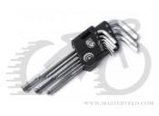 Набор шестигранников 9шт.1,5-10mm(383гр)AUTHOR 10000205
