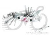 Мультитул BikeHand YC-279 нож/выжимка/2/2.5/3/4/5/6/8mm