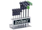Набор ключей ICE TOOLZ 7M85 шестигранников с рукояткой закруглённой концовкой (7шт.)