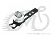 Фонарь мигалка передний, алюминиевый корпус, оригинал, цвет - серебристый