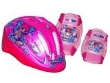 набор KIDZAMO шлем BELLA розовый 48-52см+ защита