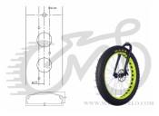 """Обод 26"""" ACO SU-MO 559x74/32 под диск неоново-желтый AUTHOR Fetbike"""