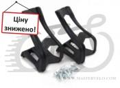 Туклипсы Zefal ToeClip (0431) пластиковые. с креплением под ремешки, L/XL, черные