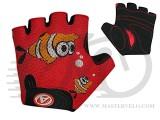 Перчатки Author Junior Fish, размер S, красно/черные с рыбкой, 7130885