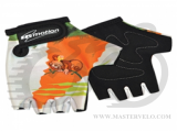 Перчатки TW-NC-2339 Kids без пальцев бело-оранжевые