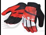 Перчатки TW-NC-2566 MTB с закрытыми пальцами красно-белые
