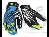 Перчатки TW-NC-2357 MTB с закрытыми пальцами сине-белые