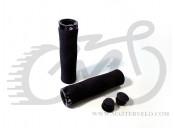 Грипсы Velo 224 130mm вспененная резина, эргономичные, черные с одним черным замком