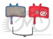 Тормозные дисковые колодки Author ABS-61 Avid Juicy, полимер, красные, 24504210