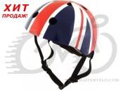 Шлем детский Kiddimoto британский флаг, размер M 53-58см