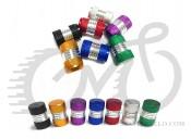 Колпачек для камер AV(schrader) Поршень красный,алюминий+резиновый уплотнитель