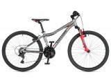 """Велосипед AUTHOR (2020) A-Matrix 24"""", рама 12,5"""", колір-сріблястий (червоний) // червоний"""