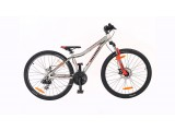 """Велосипед AUTHOR (2020) A-Matrix 26"""" D II,  рама 13,5"""", колір-сріблястий // червоний"""