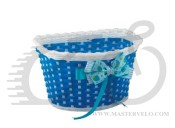 Корзина Green Cycle GCB-02-6 детская плетеный пластик синяя