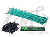 Спица Primo, 182 мм., нержавейка, зеленый, комплект 50 шт. + ниппель