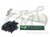 Спица Primo, 184 мм., нержавейка, белый, комплект 50 шт. + ниппель