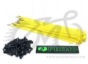 Спица Primo, 182 мм., нержавейка, желтый, комплект 50 шт. + ниппель