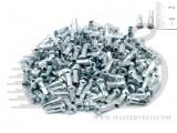 Ниппель на спицу стальной, серебр., 12мм (цена - при покупке спиц)
