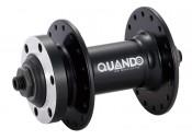 Втулка передняя Quando KT-MD7F 32H под диск, 108mm, под эксцентрик, алюминиевая черная (эксцентрик в комплекте)