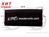 Защита рамы от цепи МастерВело Neoprene, стандартная, белая надпись mastervelo.com
