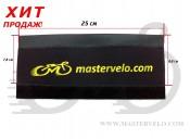 Защита рамы от цепи МастерВело  Neoprene, стандартная, желтая надпись mastervelo.com