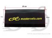 Защита рамы от цепи  МастерВело Neoprene ШИРОКАЯ желтая надпись mastervelo.com