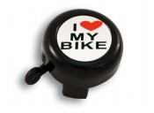 Звонок Green Cycle GCB-1051A-BK I love my bike cтальной, черный