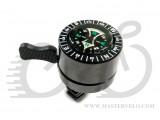Звонок ударный X17 стальной, с компасом, черный
