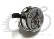 Звонок Bicycle People стальной, серебристый