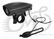 Звонок X17 Horn 3.5 с выносной кнопкой на руле, 120db, 2 режима, чернsq