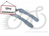 """Крылья комплект 24-28"""" Pl SIMPLA HAMMER 2 SDE, крепление заднего хомутом на 2 болта, серые с белыми вставками"""