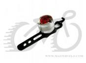 Фонарь мигалка задний, алюминиевый корпус, оригинал, цвет - серебристый