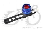 Фонарь мигалка задний, алюминиевый корпус, оригинал, цвет - синий