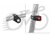 Ліхтар мигалка задній та передній Author Spark AL  W & R, чорний 12040130