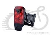 Мигалка задняя Infini MINI LAVA I-261R, 3 диода, 4 режима, USB кабель, с крепл.