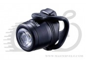 Мигалка передняя Infini MINI LUXO I-270WA-Black W/60.7 V-link, 1 светодиод, 3 режима, USB кабель, с крепл.