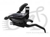 Гальмівна ручка/шифтер Shimano ST-EF500, лівий, 3-зв, трос, чорний ОЕМ (STEF5002LSBL)