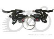 Манетки+тормозные ручки Shimano ALTUS ST-M310 3х8 черные  цена за ПАРУ!