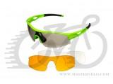 Очки Green Cycle GGL-422 c тремя сменными линзами + футляр + чехол; зеленые