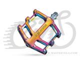 Педаль на подшипниках EXUSTAR PB525-POS, на пром.подшипниках Cr-Mo ось,цветные