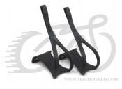 Туклипсы Zefal ToeClip (0401) пластиковые. с креплением под ремешки,L-XL,черные