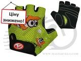Перчатки Author Junior Fish, размер M, салатово/черные с рыбкой, 7130891