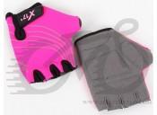 Перчатки X17 XGL-118PI детские, розово-черные, L