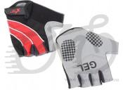 Перчатки X17 XGL-552RD гелевые, красно-черные, S
