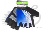 Перчатки X17 XGL-554BL гелевые, сине-черные, XS