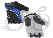 Перчатки X17 XGL-558BL гелевые, сине-черные, S
