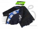 Перчатки X17 XGL-573BL гелевые, черно-сине-серые, XL