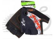 Перчатки X17 XGL-573OR гелевые, черно-оранжево-серые, L