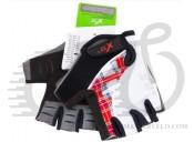 Перчатки X17 XGL-573WH гелевые, черно-бело-красные, XL