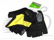 Перчатки X17 XGL-675YE гелевые, желто-черные, S